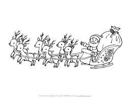 Santa Sleigh Coloring Pages Getcoloringpagescom