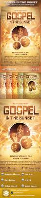gospel in the sunset church flyer template by loswl graphicriver gospel in the sunset church flyer template church flyers