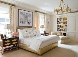 Transitional Bedroom Style Refined Master Bedrooms Apartment Cream Tones Golden