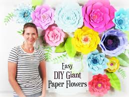 Large Paper Flower Pattern Paper Flower Tutorial Giant Paper Flower Backdrop Paper Flower
