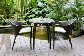 bistro wicker garden furniture with round table garden dining for garden furniture 20 best garden furniture trends 2017