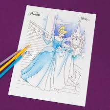 Try to color cinderella and prince to unexpected colors! Cinderella Coloring Page Disney Family