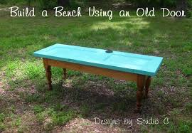 how to build a bench using an old door outdoor projectsgarden