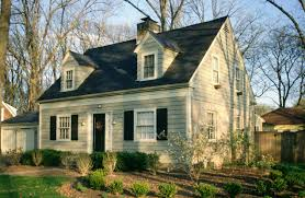 cape cod style homes with light green wall paint color combine with white window frame also