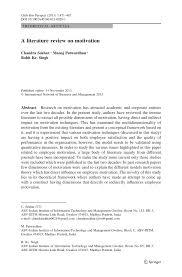 Pdf A Literature Review On Motivation