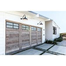 cozy garage door to backyard