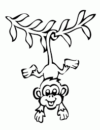 Cute Baby Monkey Coloring Pages 18070 Bestofcoloringcom