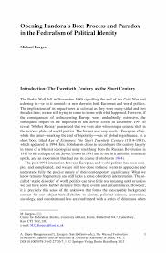 opening pandora s box process and paradox in the federalism of the ways of federalism in western countries and the horizons of territorial autonomy in spain