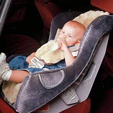 infant sheepskin car seat cover with