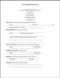 Basic Resume Form Pin By Topresumes On Latest Resume Resume Resume Form Resume Format