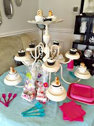 girls spa party chandelier cupcake stand how to girls party ideas apurdylittlehouse