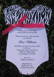 Zebra Print Baby Shower Invitations Ultrasound Couples PhotoPink Zebra Baby Shower Invitations