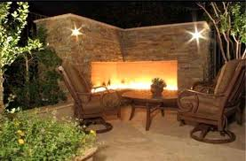 wonderful outdoor fireplace wall wall mounted outdoor gas fireplace with luxury iron furniture set orig
