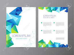 Abstract Vector Modern Flyer Brochure Design Templates With Geometric