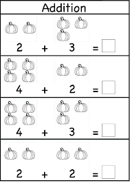 Addition Homework Page From Kindergarten Worksheets 1 6 K School ...
