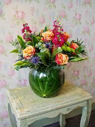 fish bowl arrangement sweet pea florist