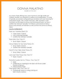 Hair Stylist Resume Examples 12 13 Sample Resumes For Hairstylist Elainegalindo Com