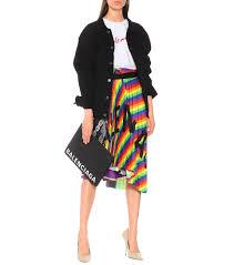 rainbow scarf crêpe skirt