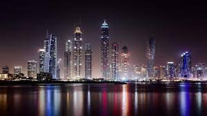 Dubai Nacht Skyline Kunst - Tapete voll ...
