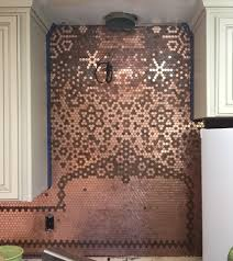 Penny Tile Kitchen Floor Penny Backsplash Carolyn 2 Kitchen Pinterest Creative