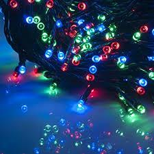 weanas rgb solar power string fairy lights 100 led multi color red green blue 55 feet