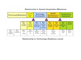 Technology Readiness Level Product Systems Engineering Special Activities Sebok