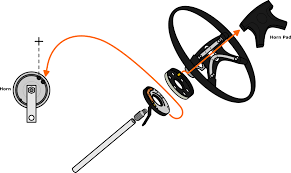 vw parts jbugs com stock vw steering wheel horn diagrams Horn Diagram Wiring 1971 1979 vw horn wiring diagram horn relay wiring diagram