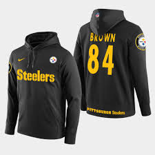 84 Pullover Brown Player Hoodie - Steelers Black Antonio
