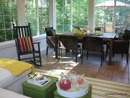 Contemporary Sunroom Furniture Sunroom Dining Room Home Design Ideas