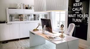 white office decor. Office Decors. Remarkable Work It Out Using Feng Shui In The Beutiful Home Inspiration White Decor E