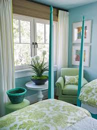 Green And Blue Decorating   Via HGTV Dream Home 2013   Bedroom