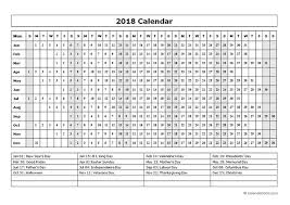Year At A Glance Calendars 2018 Calendar Template Year At A Glance Free Printable