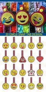 Emoji Embroidery Designs Ith Emoji Snap Tab Embroidery Design Set Of 20 Snap Tab