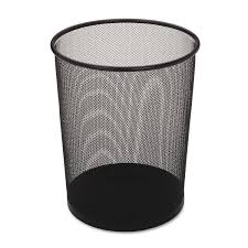 Designer Trash Receptacles Rubbermaid Commercial Executive Series Hide A Bag Open Top Trash Can 5 Gallon Black Fgwmb20bk