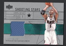Wesley Pearson 2003-04 Upper Deck Shooting Stars Game Jersey Card Grizzlies  | eBay