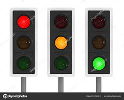 Different Lighting Conditions Render Traffic Lights Different Lighting Conditions Stock