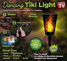 tiki lighting. Tekno Robotics Solar Powered Waterproof Path Lights/Dancing Flames Tiki Light Torch (See Details Lighting
