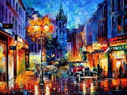 the fusion of colors in leonid afremov s nostalgic oil paintings bored panda