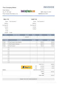 Pay Invoice Template Pdf Invoice With Paypal Button