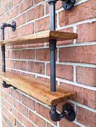 diy pallet iron pipe. Recycled Pallet And Iron Pipe Double Shelf Diy ,