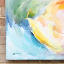 happy original contemporary abstract painting