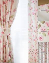 Girls Beautiful curtains in Romantic Flower Patterns