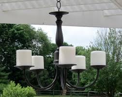 outdoor candle chandelier design