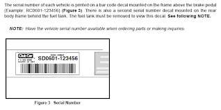 Club Car Serial Number Chart Club Car Serial Number Location Golfcartpartsdirect