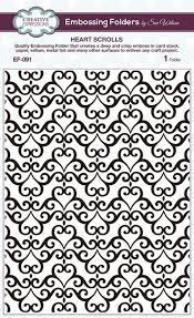 Heart Scrolls Sue Wilson Embossing Folder Heart Scrolls Ef091 123stitch Com