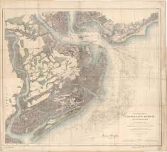 Charleston Harbor Chart 11524 Charleston Harbor 1858 Vintage Maps In 2019 Charleston