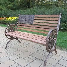 oakland living proud american 24 in w x 50 in l antique bronze patio
