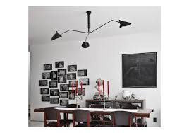ceiling lamp 3 rotating arms serge mouille