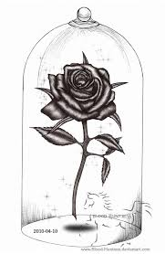 Small Picture Drawn rose blood drawing Pencil and in color drawn rose blood