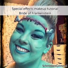 special effects makeup tutorial bride of frankenstein